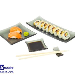 Sushi toidunõude komplekt Tume